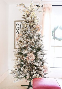 Pretty Pink Winter Tree Decorating Ideas That Looks So Awesome 33