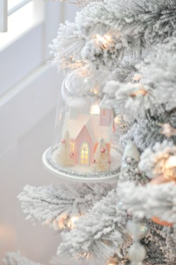 Pretty Pink Winter Tree Decorating Ideas That Looks So Awesome 48