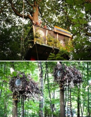 Sparkling Treehouse Design Ideas With Recycled Materials That You Should Have 26