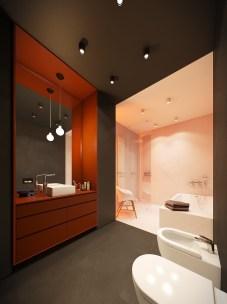 Top Fresh Orange Bathroom Design Ideas To Try Asap 04