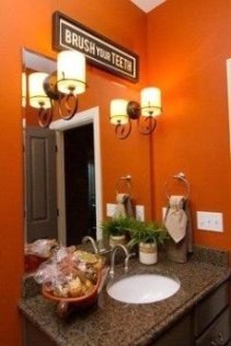 Top Fresh Orange Bathroom Design Ideas To Try Asap 19