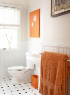 Top Fresh Orange Bathroom Design Ideas To Try Asap 21