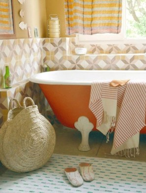 Top Fresh Orange Bathroom Design Ideas To Try Asap 35