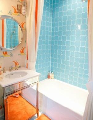 Top Fresh Orange Bathroom Design Ideas To Try Asap 36