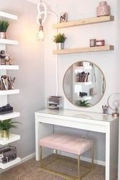 Affordable Home Decoration Ideas With Makeup Vanity That Can Inspire You 04