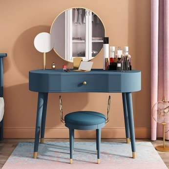 Affordable Home Decoration Ideas With Makeup Vanity That Can Inspire You 18