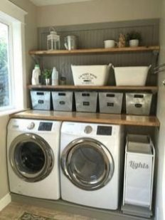 Astonishing Small Laundry Room Design Ideas For Organization To Try 19