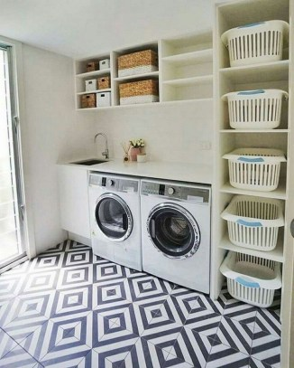 Astonishing Small Laundry Room Design Ideas For Organization To Try 25