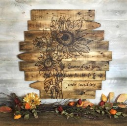Cool Wood Sunflower Wall Decor Ideas That You Need To Try 22