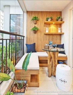 Incredible Small Apartment Balcony Design Ideas On A Budget To Try Asap 49