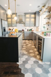 Lovely Floor Kitchen Tile Design Ideas That Make You Amazed 23