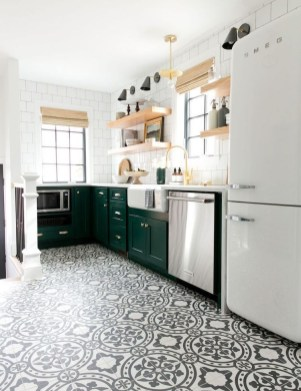 Lovely Floor Kitchen Tile Design Ideas That Make You Amazed 34