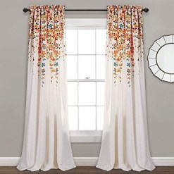 Stunning Bedroom Decoration Ideas With Flower Curtain To Try Right Now 04