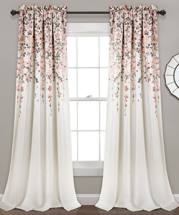 Stunning Bedroom Decoration Ideas With Flower Curtain To Try Right Now 39