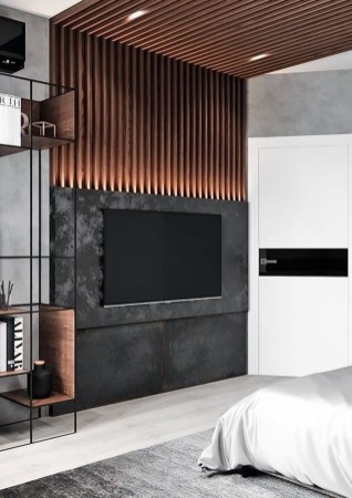 Stylish Bedroom Design Ideas With Tv Wall To Try Asap 11