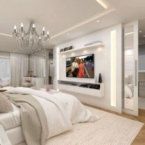 Stylish Bedroom Design Ideas With Tv Wall To Try Asap 16