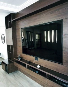 Stylish Bedroom Design Ideas With Tv Wall To Try Asap 34