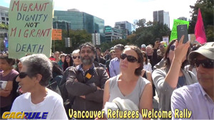 Vancouver, welcome refugees Rally