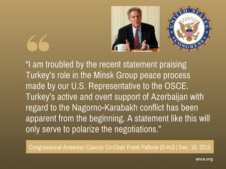 Congressional Armenian Caucus Co-Chair Frank Pallone (D-NJ)