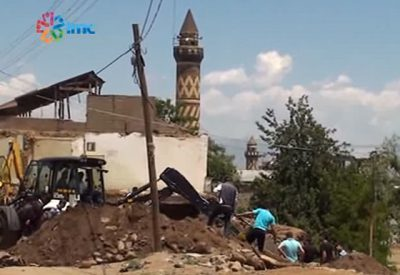 Demolition of historic Armenian houses in Mus, Turkey (Photo: Video screenshot)