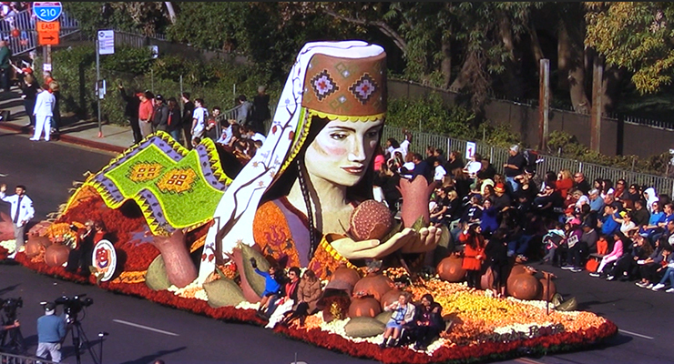 American Armenian Rose Float 2018 Pasadena, California.