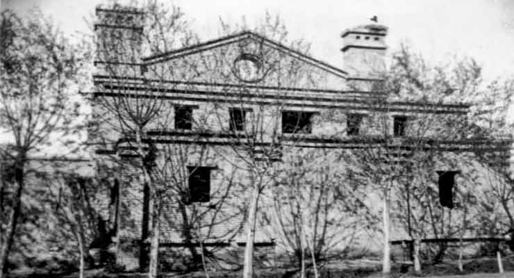 """Haftvan Auditorium in Salmast"" in early 1950's"