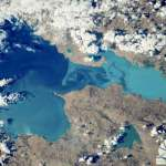 Russian cosmonaut congratulates on Valentine's Day with heart-shaped Lake Van photos