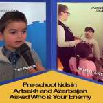 Who do pre-school kids in Artsakh and Azerbaijan consider foes? Video