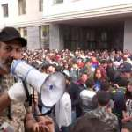 """Protesters surround Yerevan City Hall building shouting """"Taron, go out"""""""