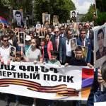"Armenian president joins the ""Immortal Regiment"" march across Yerevan streets"