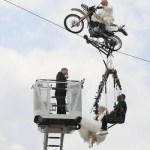 German couple ties knot in the sky in tightrope wedding