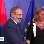Nikol Pashinyan meets Federica Mogherini in Brussels