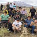 Georgian Armenians climb up 2941m on Mount Ararat