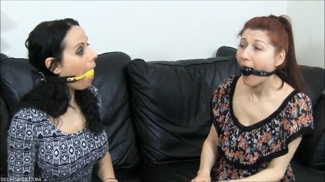 ball gag talking women selfgags