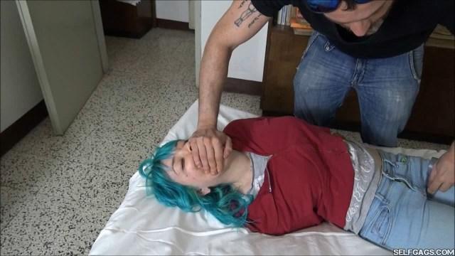hand gagged college girl selfgags