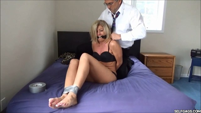 real estate lady cleave gagged in bondage selfgags