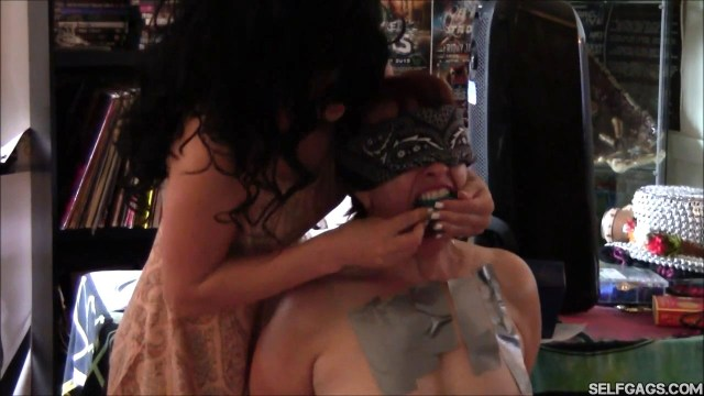Bound milf panty gagged by young girl selfgags