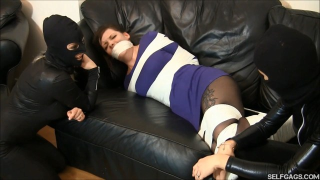 hogtied and tape gagged girl helpless selfgags