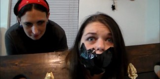 Anastasia Rose tape gagged and scared selfgags