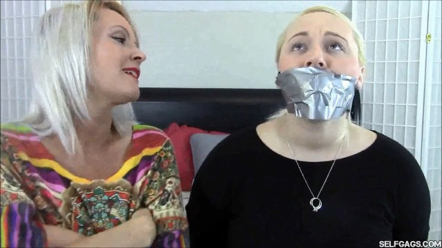 daugher tape gagged tight by mom selfgags