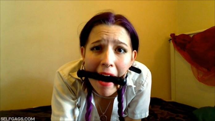 Bit gagged school girl