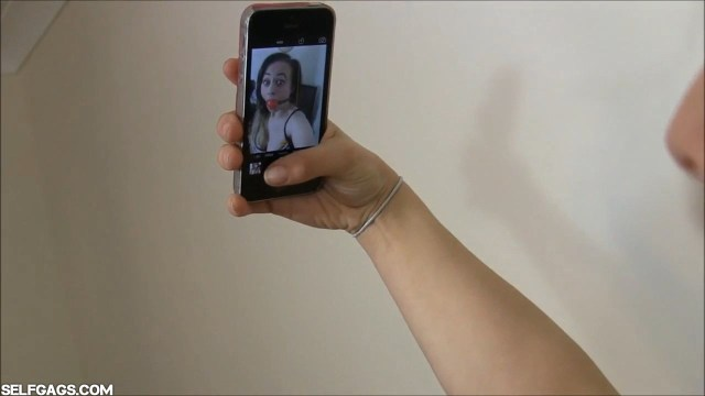 Carleyelle ball gagged selfie