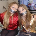 tape gagged sisters in bondage
