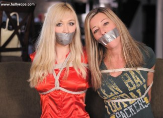 mother and daughter tied up and gagged
