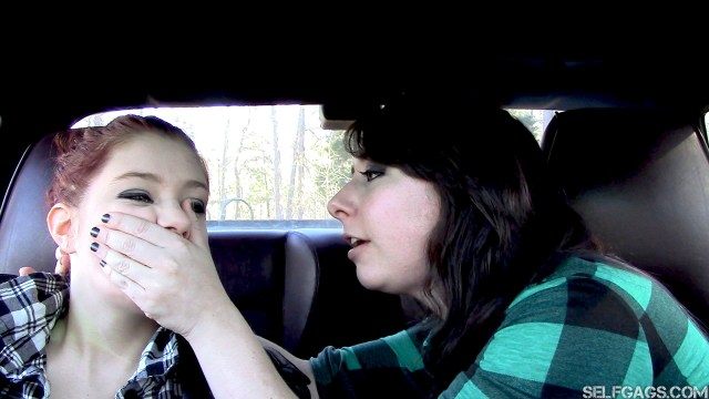 Gemi Blossom handgagged by Dakota Charms for selfgags