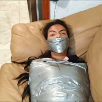 Mummified Latina Gagged Tight!