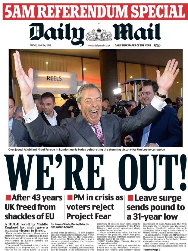 Brexit Shocker: Newspaper Front Pages From Around the ...