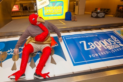 Zappos Baggage Claim Houston Airport Wheel Of Fortune Game