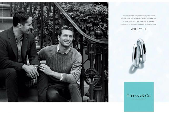 Tiffany Co: same-sex couple