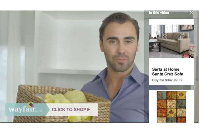 Wayfair's shoppable ads nabbed three times more revenue than YouTube's standard spots.